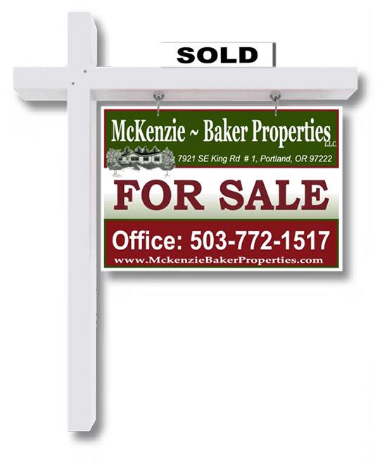 McKenzie Baker Properties Sold Sign